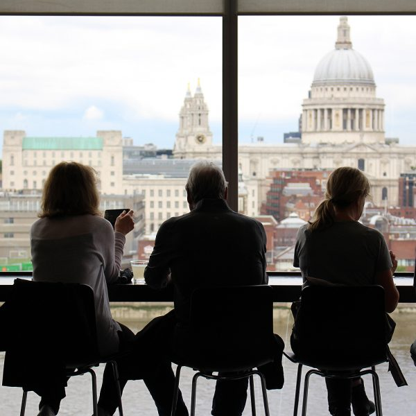 Adult Students Enjoying View Of St. Paul's