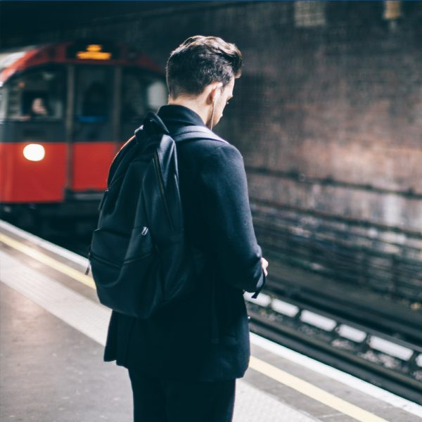 Student Waiting For London Tube