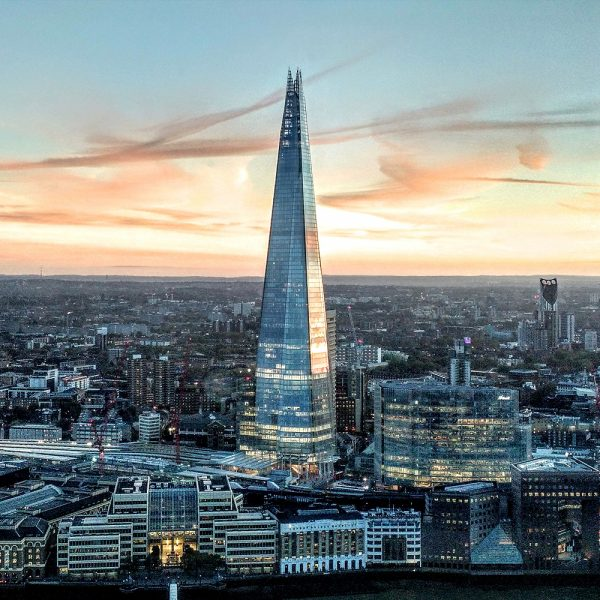 Sunset View Of The Shard In London Bridge