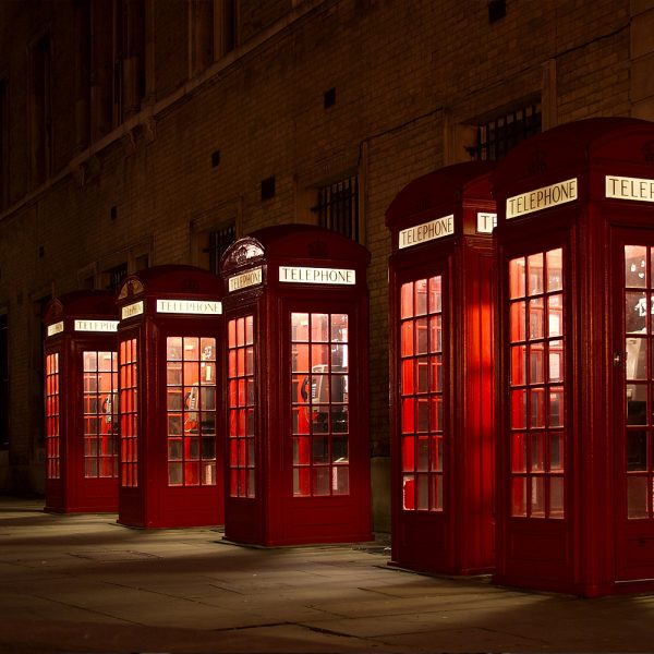 Traditional London Red Telephone Boxes