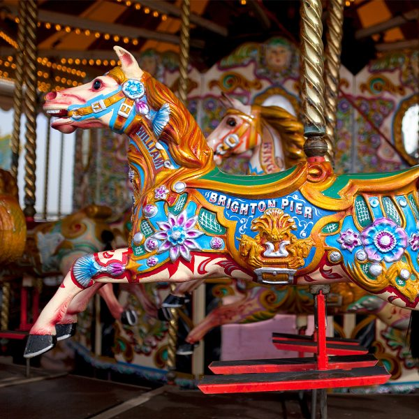 Brighton Palace Pier - Horse On Merry Go Round