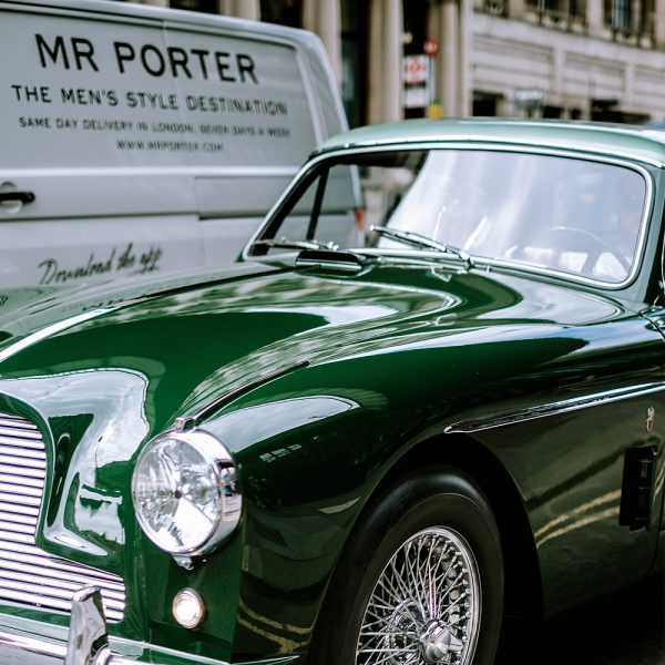British Racing Green Classic Car